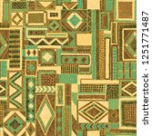 seamless embroidered patchwork... | Shutterstock .eps vector #1251771487