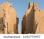 Statue Of Pharaoh And Large...