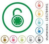 unlocked round combination lock ...   Shutterstock .eps vector #1251784441