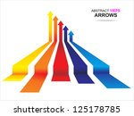 colored arrows vector | Shutterstock .eps vector #125178785
