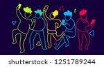 vector illustration of group of ... | Shutterstock .eps vector #1251789244