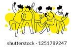 vector illustration of group of ... | Shutterstock .eps vector #1251789247
