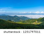 panorama view point  mist on... | Shutterstock . vector #1251797011
