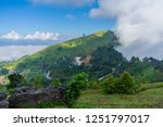 view point  mist on doi pha... | Shutterstock . vector #1251797017