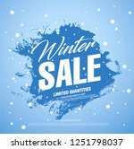 winter sale banner template... | Shutterstock .eps vector #1251798037