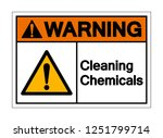 warning cleaning chemicals... | Shutterstock .eps vector #1251799714