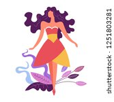 fashion woman modeling  ... | Shutterstock .eps vector #1251803281