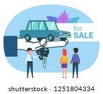 car seller  dealer. man and... | Shutterstock .eps vector #1251804334