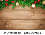 wooden background  christmas... | Shutterstock . vector #1251809881