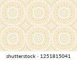 ethnic abstract zentangle...   Shutterstock .eps vector #1251815041