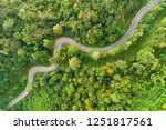 Aerial View Road Curves Up The...