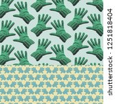 patterned background  ... | Shutterstock . vector #1251818404