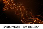 3d render abstract graph with... | Shutterstock . vector #1251830854