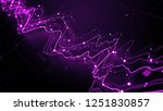 3d render abstract graph with... | Shutterstock . vector #1251830857