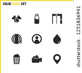 industrial icons set with rope  ...