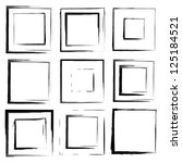 vector set of grunge square... | Shutterstock .eps vector #125184521
