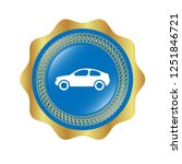 glossy button with car icon....