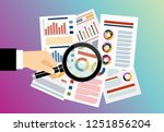 vector web banner for business... | Shutterstock .eps vector #1251856204