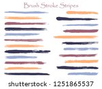 vintage ink blue brush stroke... | Shutterstock .eps vector #1251865537