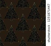christmas tree vector seamless... | Shutterstock .eps vector #1251871447