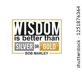 wisdom is better than silver or ... | Shutterstock .eps vector #1251876364