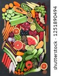 health food choice for fitness... | Shutterstock . vector #1251890494