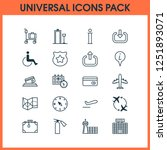airport icons set with... | Shutterstock .eps vector #1251893071