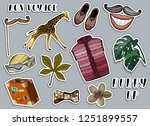 various colorful stickers set....   Shutterstock .eps vector #1251899557