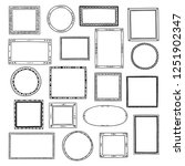 hand drawn  frames set. cartoon ... | Shutterstock .eps vector #1251902347