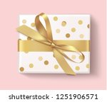 decorative white gift box with... | Shutterstock .eps vector #1251906571