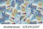 kuwait kwd banknote as... | Shutterstock . vector #1251912247
