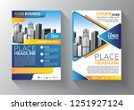 brochure template layout  cover ... | Shutterstock .eps vector #1251927124