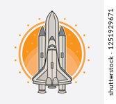 vector rocket logo design ... | Shutterstock .eps vector #1251929671