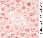 cute romantic seamless pattern. ... | Shutterstock .eps vector #1251930544