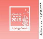 coral  color of the year 2019 ... | Shutterstock .eps vector #1251933967