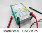 analog multimeter isolated on... | Shutterstock . vector #1251945097