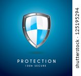 Protection Icon Over Blue...