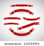 vector ribbons set | Shutterstock .eps vector #125195591