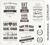 set of wedding invitation... | Shutterstock . vector #125196149