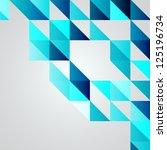 Stock vector blue mosaic vector background eps illustration 125196734
