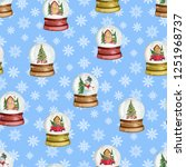 seamless pattern with christmas ...   Shutterstock . vector #1251968737