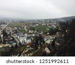 view from vaduz castle ... | Shutterstock . vector #1251992611