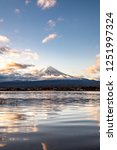 close up mount fuji from lake... | Shutterstock . vector #1251997324