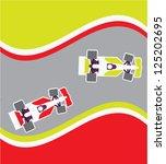 racing cars   Shutterstock .eps vector #125202695