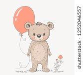 cute cartoon little bear boy...   Shutterstock .eps vector #1252046557