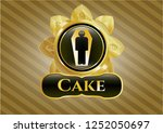 gold badge with dead man in... | Shutterstock .eps vector #1252050697