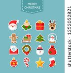 christmas icons set. holiday... | Shutterstock .eps vector #1252052821