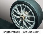 close up car mag wheel... | Shutterstock . vector #1252057384