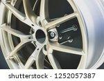 close up car mag wheel... | Shutterstock . vector #1252057387