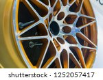 close up car mag wheel... | Shutterstock . vector #1252057417